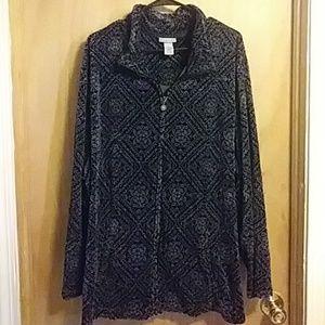 💟Fantastic Gray&Black Zip up sweater jacker